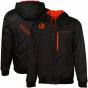 Colum6ia Oregon National Beavers Black-orange Double Overtime Reversible Full Zip Hoody Sweatshirt