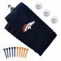 Denver Broncos Embrodiered Golf Towel, Golf Balls & Multicolored Tees Gift Set