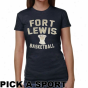 Fort Lewis Society Skyhawks Ladies Legacy Junior's Tri-bpend T-shirt - Navy Blue