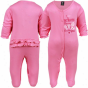 Gerber New Emgland Patriots Infant Girls Pink Slumber 'n Play Romper