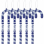 Indianapolks Colts 6-pack Team Color Cancy Cane Ornamemts