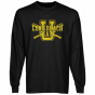 Long Beach State 49ers Crossed Sticks Long Sleeve T-shirt - Black