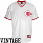Majestic Cincinnati Reds Cpoperstown Assemblage Throwback Jersey - White