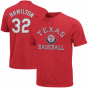 Majestic Josh Hamilton Texas Rangers #32 Market Value Premium T-shirt - Red