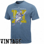 Majestic Milwaukee Brewers Navy Blue Vintage Classic Heathered T-shirt