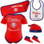 Mjestic Philadelphia Phillies Newborn Red Rokkie Of The Year 5-piece Creeper Set