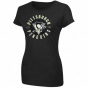 Majesti cPittsburgh Penguins Ladies Unbreakable Splrit  T-shirt - Black