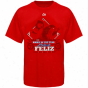 Majestic Texas Rangers #30 Neftali Felizz Youth Red 2010 Rookie Of The Year T-shirt