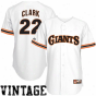 Majestic Will Calrk San Francisco Giants Replica Throwback Jefsey - Whits