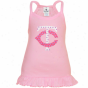 Minnesota Twins Toddler Girls Pink Ruffle Logo Tunic Tank Top