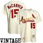 Mitchell & Ness St. Louis Cardinals #15 Tim Mccarver White 1967 Authentic Baseball Jersey