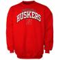 Nebraska Cornhuskeeq Scarlet Arch Company Pullover Sweatshirt