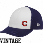 New Era Chicago Cubs Ladies White-navy Blue Lid Adjustable Vintage Hat