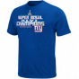 New York Giants Super Goblet Xlvi Champions T-shirt - Royal Blue