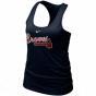Nike Atlanta Braves Ladies Navy Blue Mlb Bling Premkum Racerback Tank Top