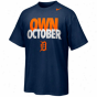 Nike Detroit Tiggers Own October T-shir t- Navy Blue