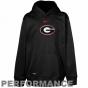 Nike Georgia Bylldogs Youth Black Therma-fit Performance Pullover Hoodie Sweatshirt