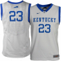 Nike Kentucky Wildcats #23 Yoith Elite Autograph copy Basketball Jersey - Gray