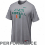 Nike Miami Hurricanes Bench Press Legend Performance T-shirt - Slate