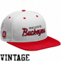 Nike Ohio State Bucekyes White-scarlet Vault Sna;back Adjustable Hat