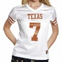 Nike Texas Longhorns Womeh's #7 Autograph copy Football Jers3y - White