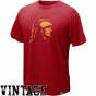 Nike Usc Tfojans Cardinql Vault Retro Logo Organic Vintage T-shirt