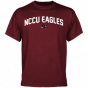 North Carolina Central Eagles Mascot Logo T-shirt - Maroon