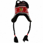 Old Time Hockey Chicago Blackhawks Bladk-red Aero Tassel Knit Beanie