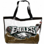 Philadelphia Eagles Ladies Large See All Tote Bag