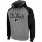 Purdue Boilermakers Ash-black Atlas Pullover Hoodie Sweatshirt