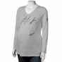 Rebeok Miami Dolphins Ladies Gray Draft Pick 2030 V-neck Maternity Long Sleeve T-shirt