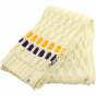 Reebok Minnesota Vikings Ladies Wite Cable Knit Scarf