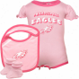 Reebok Philadelphia Eagles Infant Gilrs Pink Creeper, Bib & Bootie Set