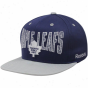 Reebok Toronto Maple Leafs Royal Blue-gray Two-tone Striped Snapback Adjustable Hat