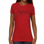 San Diego Pomp Aztecs Ladiees Swept Away Slim FitT -shirt - Red