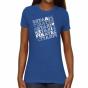 Seton Hall Pirates Ladies Crossword Slim Fit T-shirt - Royal Blue