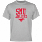 Smu Mustangs Athletics T-shirt - Ash