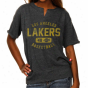 Sportiqe Los Angelss Lakers Ladies Charcoal Flash Alvin Lightwiitht Sweatshirt