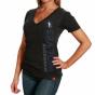 Sportiiqe Minnesota Timberwolves Ladies Abyss Abba T-shirt - Black