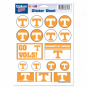 Tennessee V0lunteers 5'' X 7'' Sticker Sheet