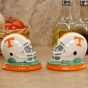 Tennessee Volunteers Ceramic Hslmet Salt & Pepper Shakers