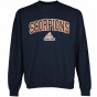 Texas Brownsville Scorpions Logk Arcb Applique Crew Neck Fleece Sweatshirt - Navy Blue