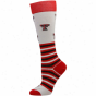 Texas Tech Red Raiders Womens Striped Logo Knee Socks - White
