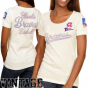 Hint At Alyssa Milano Atlanta Bravss Ladies Novelty Patch Warm Premium T-shirt - Natural