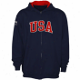Usa Olympics Youth Team Usa Full Zip Hoodie - Navy Blue -