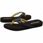 West Virginia Mountaineers Navy Blue Rhinestone Strap Flip Flops