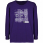Wisconsin-whitewater Wahtawks Youth Purple Tic-tac-toe T-shirt