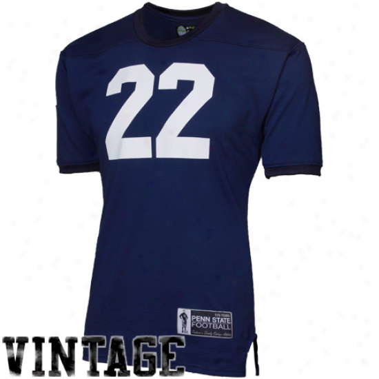 Tiedman & Formby Penn State Nittany Lions #22 1973 Vintate Mesh Football Jersey - Navy Blue