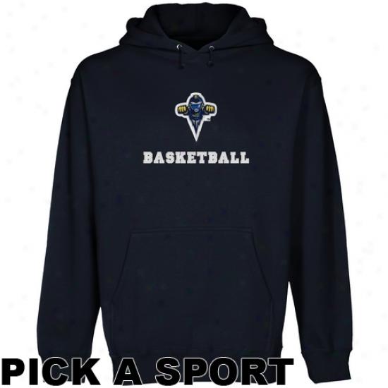 Toledo Rockets Custom Sport Logo Applique Pullover Hoodie - Navy Blue