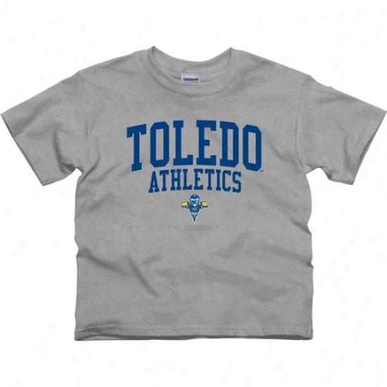 Toledo Rockets Youth Athletcs T-shirt - Ash